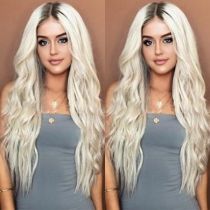 Fashion Mixed Color Long Curly Wigs