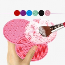 Portable Silicone Makeup Cosmetic Brush Washing Cleaning Pad