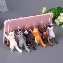 Soporte de Teléfono Móvil del Lechón en Forma de Gato Lindo