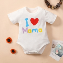 Bodysuit para Bebés con Estampado de Letras de