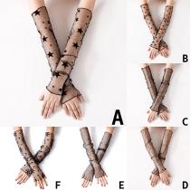 Fashion See-through Gauze Sunscreen Raglan Sleeves -2 Pair/Set