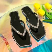 Zapatillas de Gelatina de Cristal con Strass