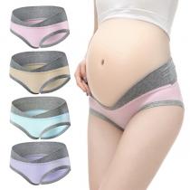 4 Piezas/set de Bragas de Maternidad Transpirables de Cintura Baja