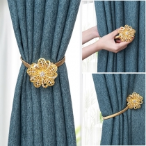 Creative Style Rhinestone Inlaid Flower-shape Curtain Buckle