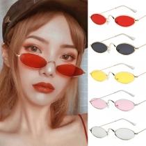 Gafas de Sol con Montura Elipse de Estilo Retro