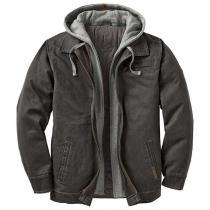 Fashion Long Sleeve Hooded Mock Two-piece Man's Coat