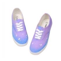 Zapatos Cielo Azul esfumado estrellada lona