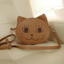 Bolso de Hombro Lindo en Forma Gato con Sonrisa