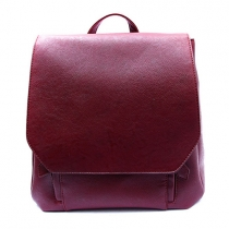 Retro Solid Color Backpack Travelling Bag