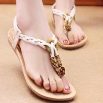 Bohemian Style Flat Heel Thong Sandals