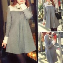 Fashion Casual Long Sleeve Maternity Warm Woolen Coat