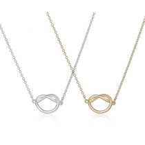 Fashion Knotted Pendant Alloy Necklace