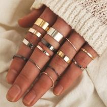 Simple Style Alloy Ring Set 14 pcs/Set