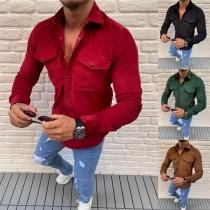 Camisa de Polo Escote Manga Larga de Caballero