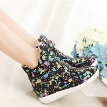 Fashion Graffiti Pattern Round Toe Inner-Increased Shoes