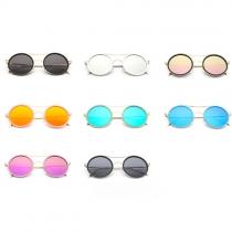 Retro Style Round Frame Unisex Sunglasses