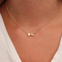 Concise Style English Letter & Heart Shape Pendant Necklace