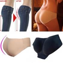 Sexys braguitas realzadoras, sin costuras, de cintura baja, en color sólido y transpirables