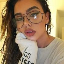 Gafas de Cristal Liso de Estilo Retro