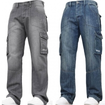 Fashion Middle-waist Side-pocket Man's Jeans