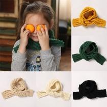 Bufanda de Punto de Color Sólido  para Niños