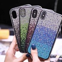 Funda con Strass de Color de Gradiente para iPhones HUAWEI