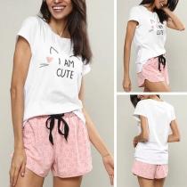 Pijama Corta de Dos Piezas con Estampado
