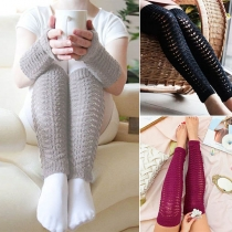Fashion Solid Color Over-the-knee Knit Socks Leg Warmer