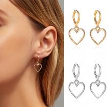Fashion Hollow Out Heart Pendant Earrings