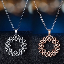 Chic Style Twisted Heart Pendant Necklace