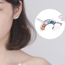 Pendientes en Forma de  Arco Iris