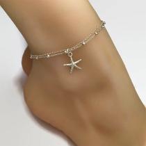 Tobillera con Colgante de Estrella de Mar de Moda