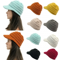 Fashion Solid Color Knit Cap