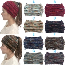Fashion Mixed Color Knit Beanies Head Band