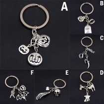 Retro Style Skull Head Pendant Key Chain