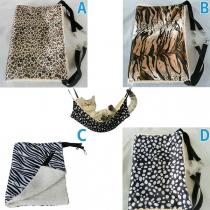 Saco de Dormir Hamaca Estampado para Mascotas en Forro de Peluche
