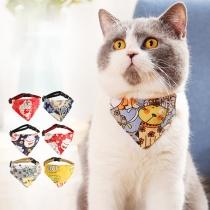 Baberos Bufanda para Mascotas con Estampado de Deltoidal DE Estilo Chic