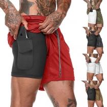Pantalones Cortos Deportivos para Hombre de Cintura Elástica de Moda