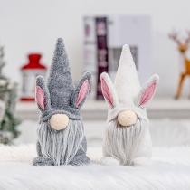 Artículos de Decoración de Fiesta de Pascua en fForma de Conejo de Nuñeca sin Rostro de Estilo Lindo