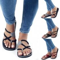 Sandalías de Correas de Estilo Bohemio