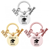 Creative Style Stainless Steel Key Chain Graduation gift