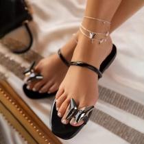 Fashion Flat Heel Butterfly Outdoor Slippers