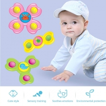 3PCS Cartoon Shape Suction Cup Spinner Toy for Babies Toddlers  3 Piece/Set