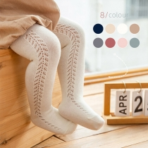 Fashion Solid Color Hollow Out Baby Pantyhose
