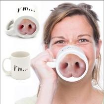 Taza divertida de la nariz de cerdo Piggy Nose Nariz de cerdo Taza de té de café Regalo divertido