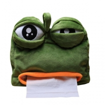 Caja de pañuelos de regalo de rana triste divertida caja de pañuelos de bombeo de coche