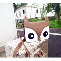 Cute Vintage Cartoon Owl Fox Purse Satchel Shoulder Bag Crossbody Bag