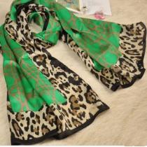 Verde fresco bufanda del leopardo