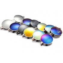 Gafas de Sol Unisesual de Vendimia Redondo Marco Mental de Flecha