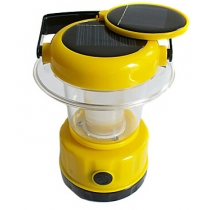 9-LED Solar Handheld White Outdoor Camping Hiking Lantern Tent Lamp Light